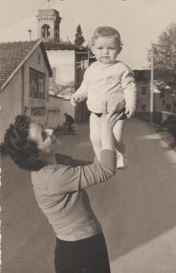 Pietro con mamma Amalia