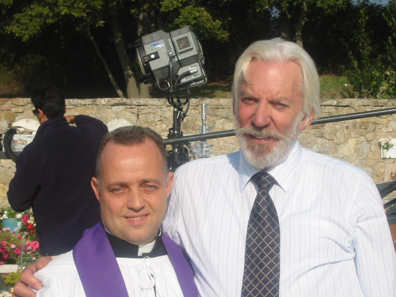 Ghislandi con Donald Sutherland