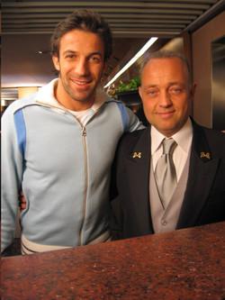 Ghislandi con Alex Del Piero