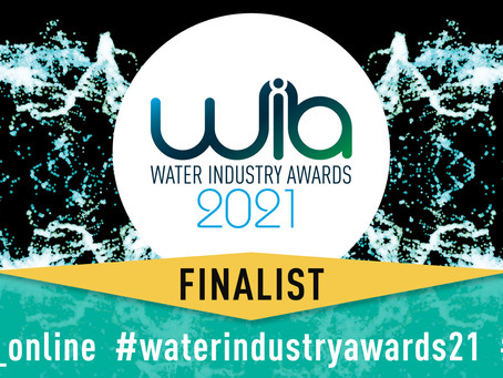 Water Industry Awards 2021 Finalists...in not one, but two categories