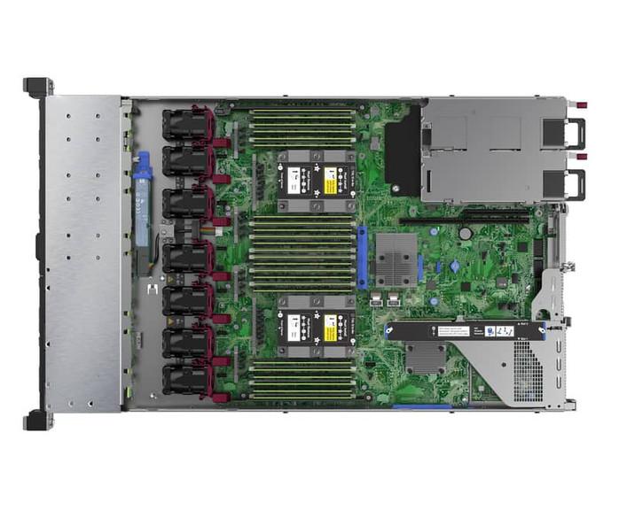 HPE ProLiant DL360 Gen10 inside view
