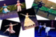 Collage of dancers performing on stage
