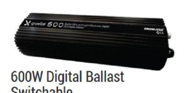 GROWLITE 600W DIGITAL BALLAST MH/HPS DIMMABLE QUIET RUNNING (NO FAN) GROWLUSH