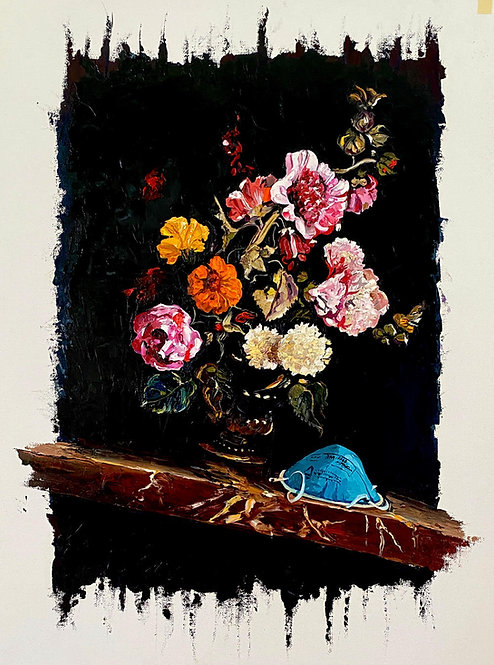 'Off Balance' - Original Oil by Dave Pollot