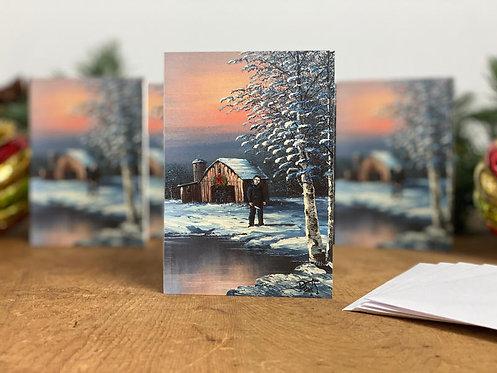 Holiday Cards, Pack of 5 - 'Tilt'