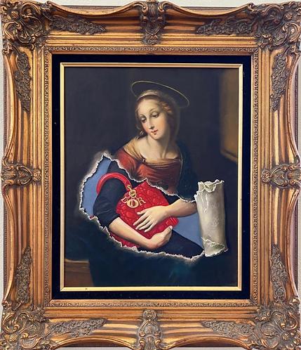 'Primer IV' - Original Oil on Found Art by Dave Pollot