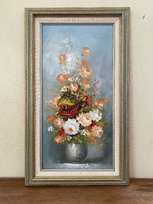 'Miracle Grow' - Original Oil on Found Art by Dave Pollot
