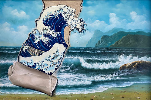 'Second Wave' - Print by Dave Pollot