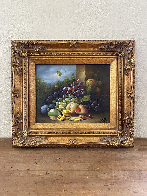 'Bits and Bites II' - Original Oil on Found Art by Dave Pollot