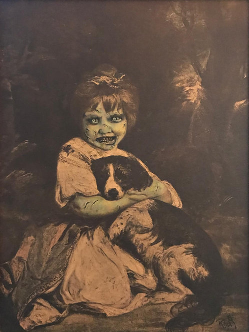 'Exorcist's Therapy Dog' - Print by Dave Pollot