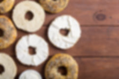 Healthy homemade bagels with cream chees