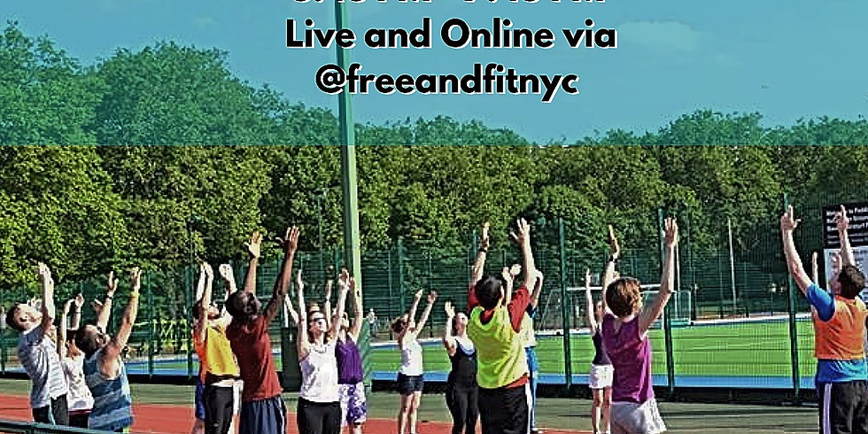 Free & Fit NJ - Worship & Workout - Live on Zoom / Facebook