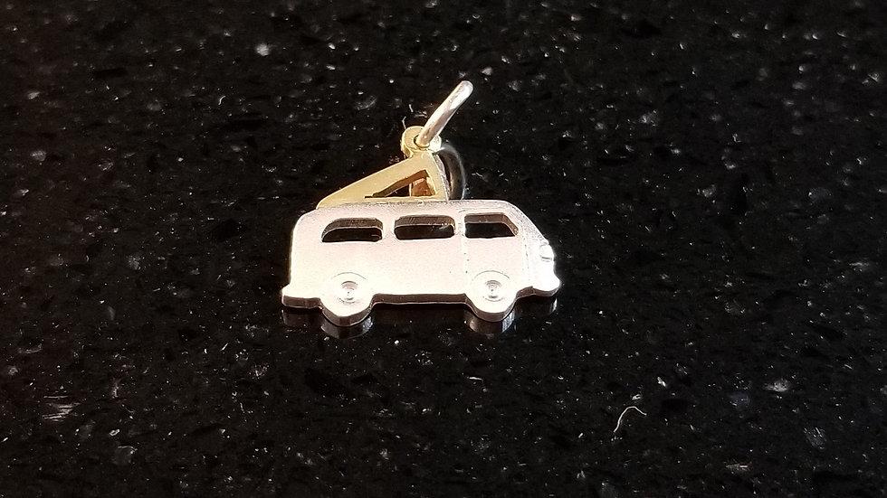 VW Volkswagen Camper Van Camping Sterling Silver Charm