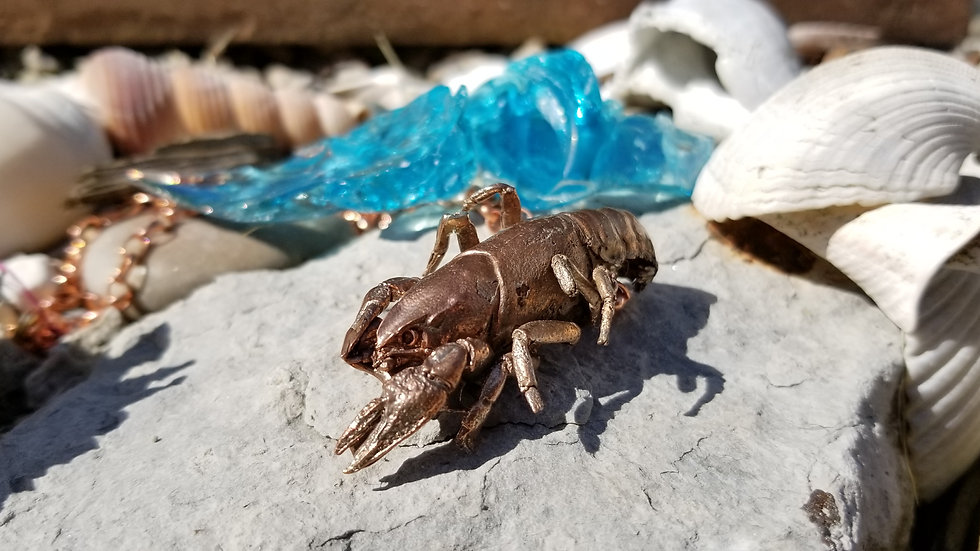 Crawdad Crayfish Crawfish Crustacean Copper Pendant