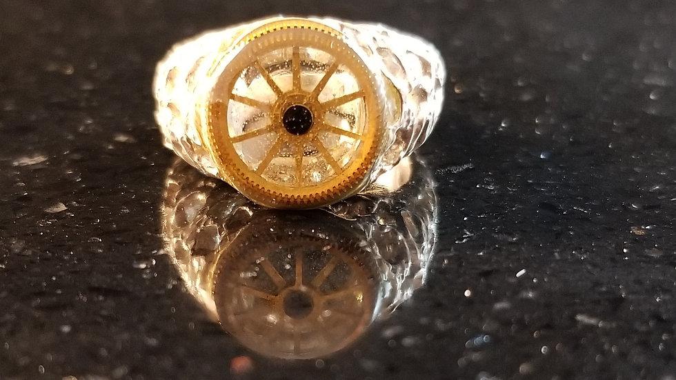 Pocket Watch Gear Sterling Silver Ring
