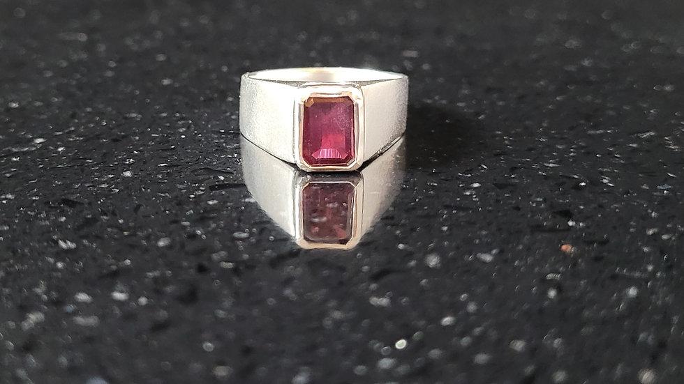 Garnet Rhodolite Sterling Silver Ring January Birthstone