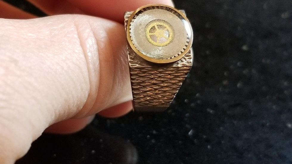 Copper Pocket Watch Gear Ring