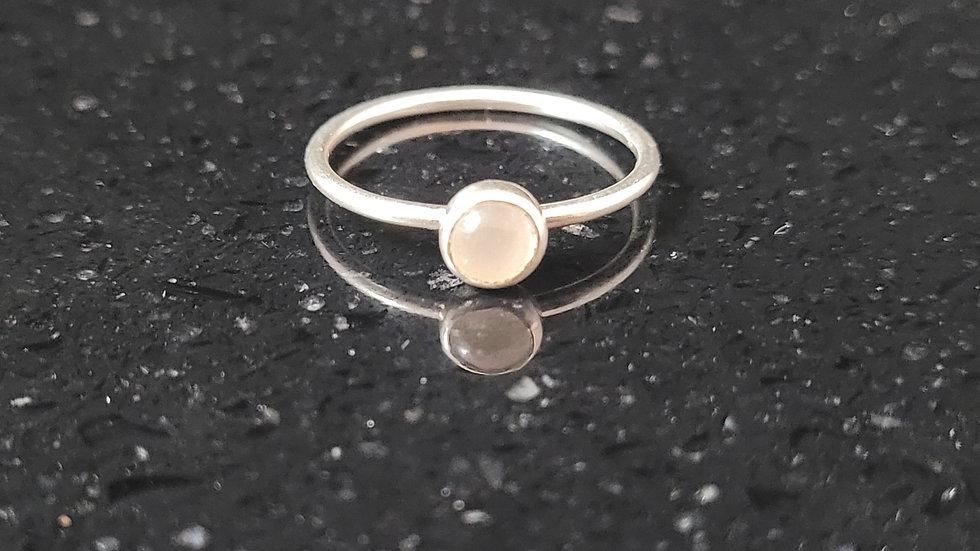 Moonstone Sterling Silver Ring Stacker Ring