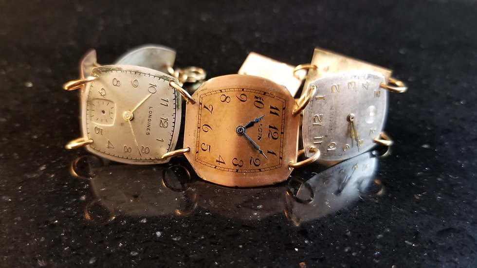 Watch Dial Bracelet Steampunk Recycled