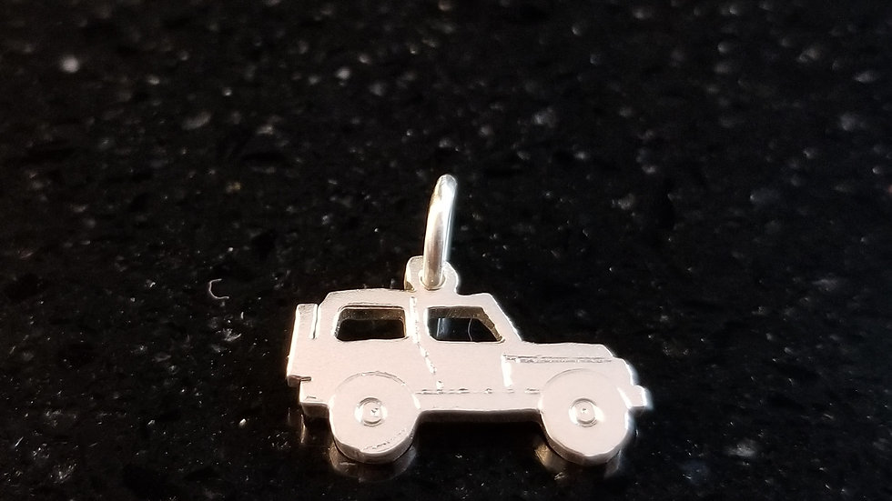 Jeep Sterling Silver Charm