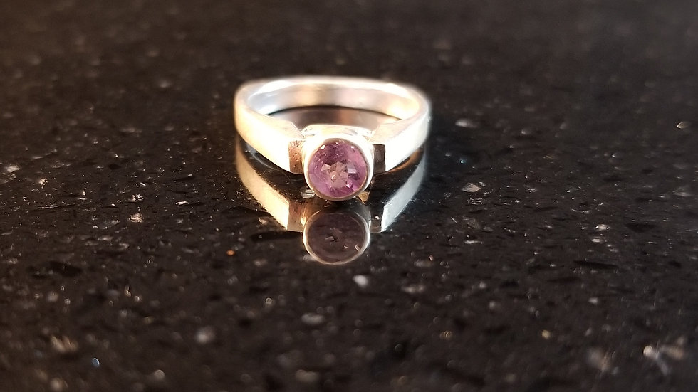 Amethyst Sterling Silver Ring February Birthstone Ring
