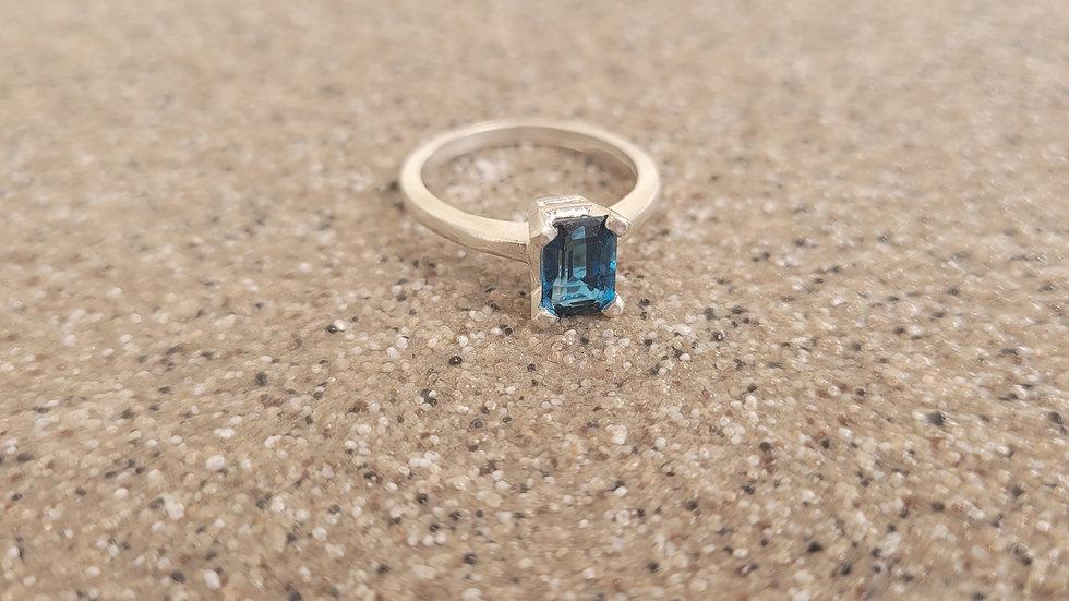 London Blue Topaz Sterling Silver Ring