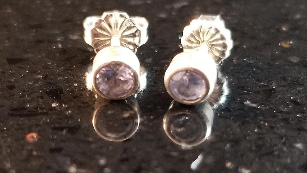 Tanzanite Sterling Silver Earrings December Birthstone