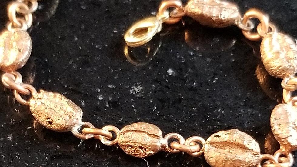 Coffee Bean Copper Link Bracelet Java Roaster Coffee Lovers Tinker Coffee Roaste