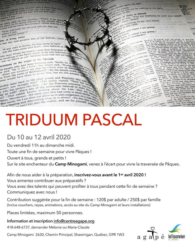 TRIDUUM PASCAL Du 10 au 12 avril 2020