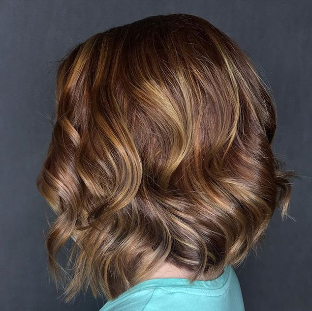 Natural copper with honey highlights AND