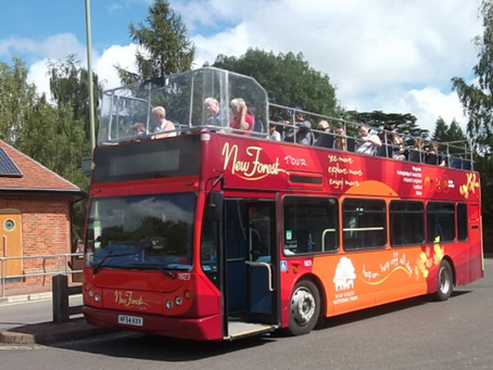 A fun ride on the New Forest Open Top Bus