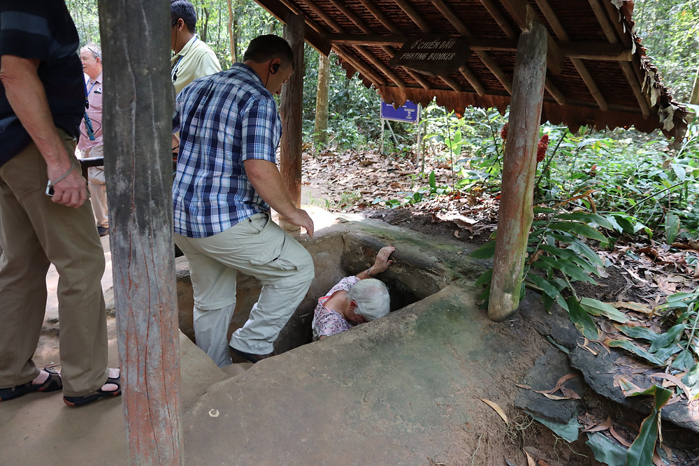 Can you go down the cu chi tunnels?