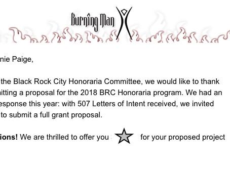 2018 Black Rock City Honoraria