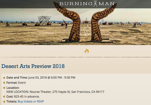 Burning Man Desert Arts Preview 2018