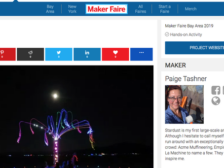 Stardust is Going to Maker Faire!