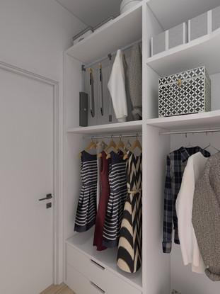 Veronica Petrogalli Design - Progetto cabina armadio