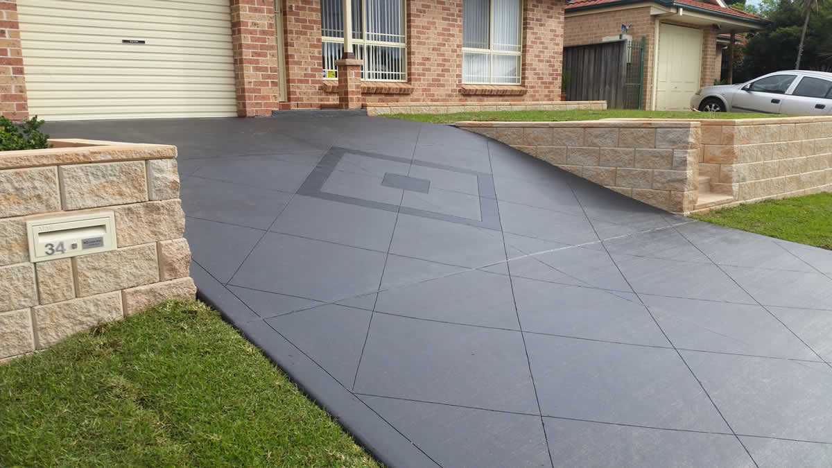 Image result for coloured concrete driveways