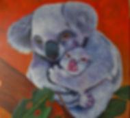 Rescued Koala Mama and Baby Nancy Starr.