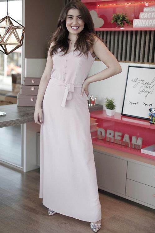Vestido longo liso