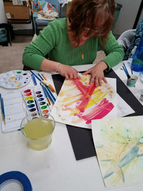 Masking Fluid and Watercolor