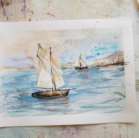 Watercolor Sailboat