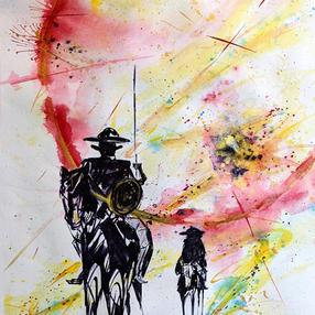 Don Quixote Watercolor