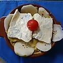 polenta gorgonzola e pere