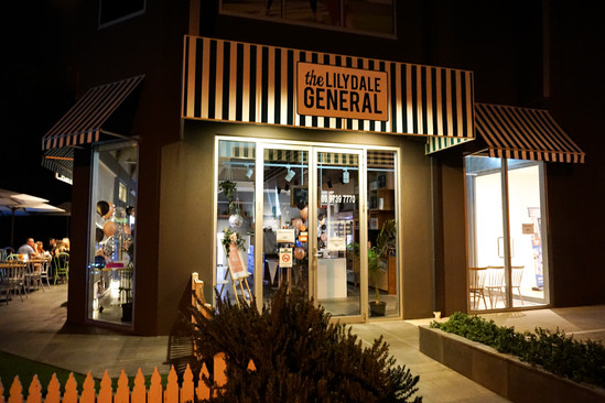 The Lilydale General at night