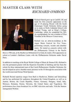 Masterclasses with Richard Omrod
