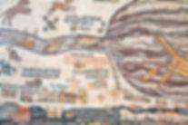 Replica Of Antique Madaba Map Of Holy La