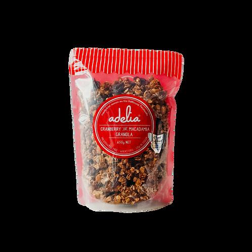 Adelia Cranberry & Macadamia Granola 650g