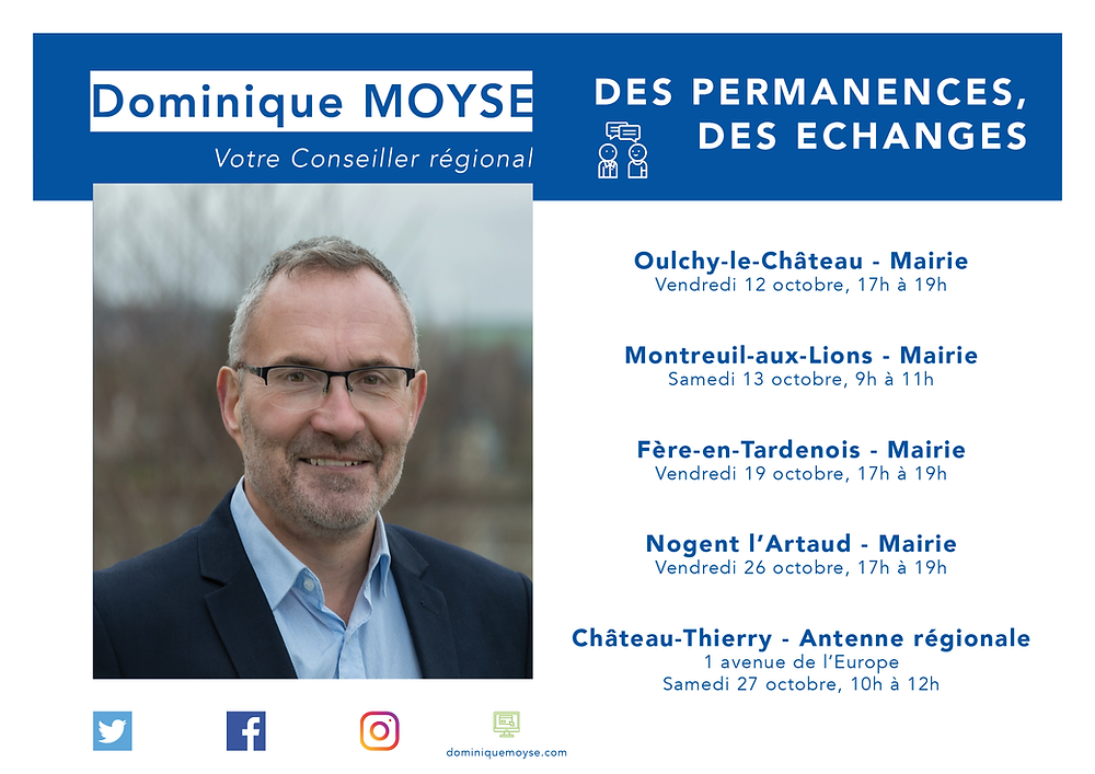 Dominique MOYSE - Permanences octobre