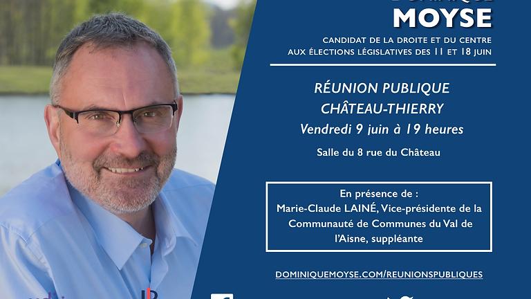 Réunion publique à Chateau-Thierry