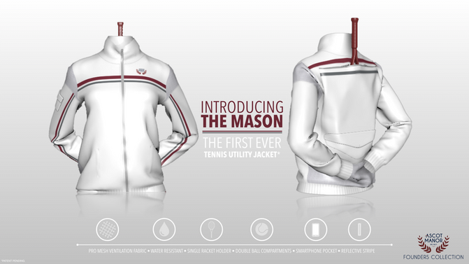 The Mason, The World's First Patent-Pending Tennis Utility Jacket